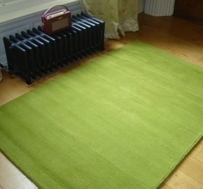 Use A Lime Green Rug To Add Flavor To Your Home