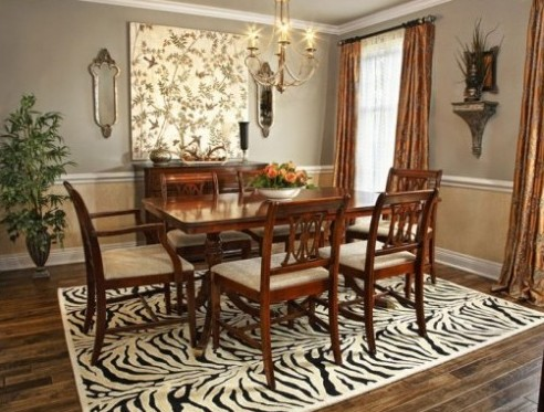 let your guest appreciate your dining room rugs