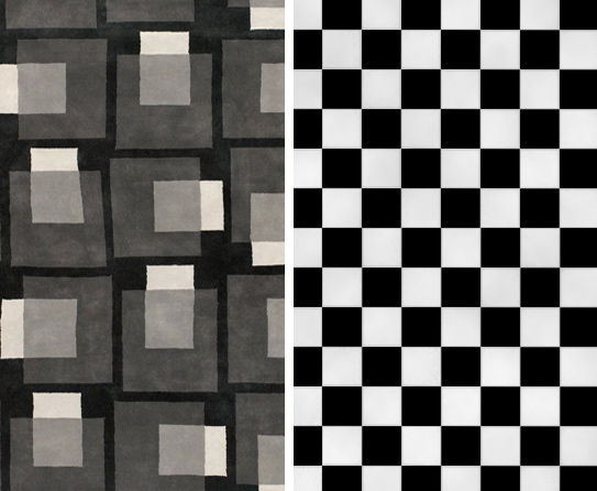 Black And White Checkered Rug Home Decor