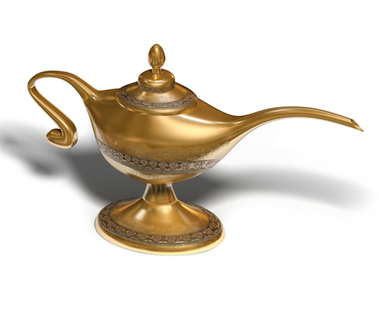 Aladdin S Lamp Showpiece