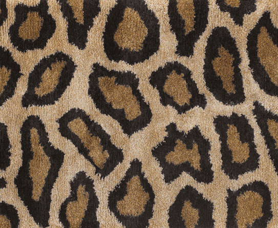 Beautiful Leopard Print Square Rugs