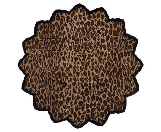 Flower Shaped Leopard Print Rugs