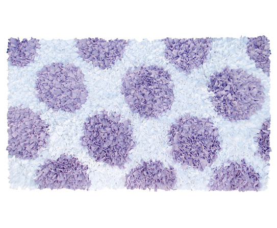 Lavender And White Spotted Shag Carpet