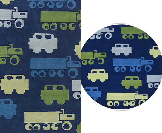 traffic themed kids rugs