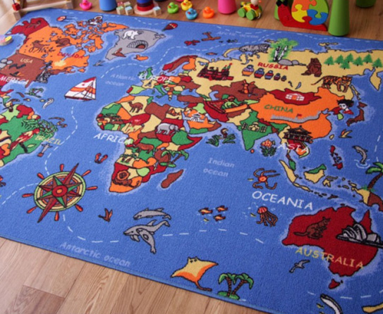 Map Rug - World Map Rug