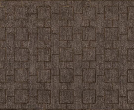 Tan Brown Geometric Solid Rug