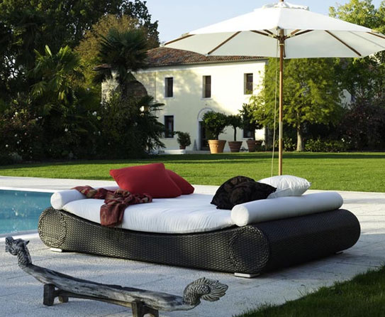 Bed & Different Seating Ideas at Poolside