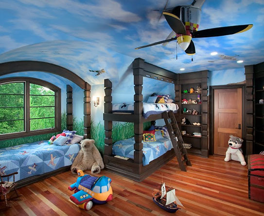 Give Wings To Design With Aeronautical Kids Rooms