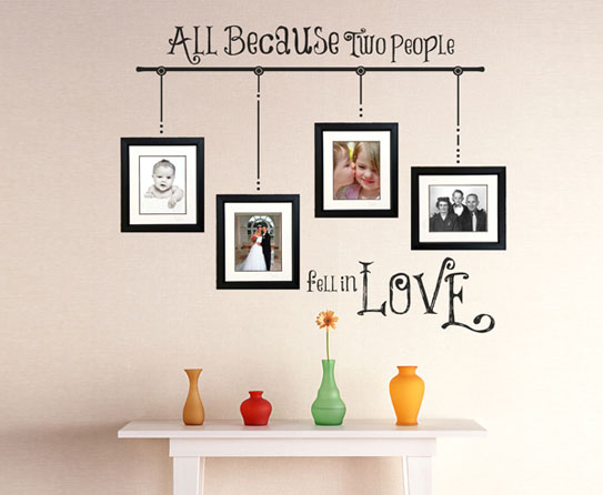Photo Wall Ideas With Different Frames : Different arrangement ideas of photo frames