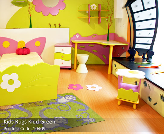 Green kids rug2