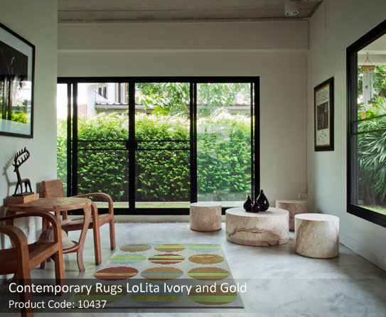 Ivory and gold rug 4