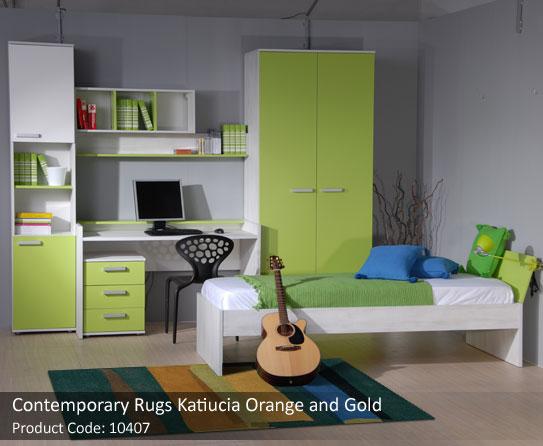 Orange and gold rug 3