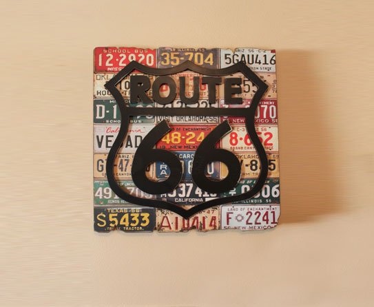 route 66 themed home decor accessories. Black Bedroom Furniture Sets. Home Design Ideas