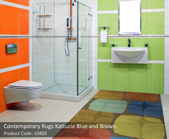 bluae and brown rug 2