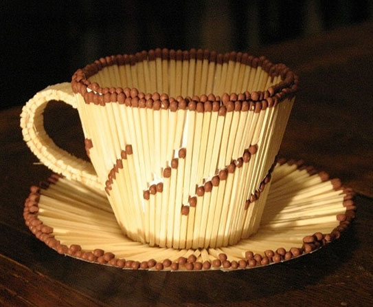 Ideas on decorating your home decor with matchsticks for Creative things out of waste