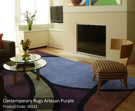 5 contemporary blue brown rug
