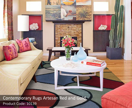 6 Contemporary multicolored rugs