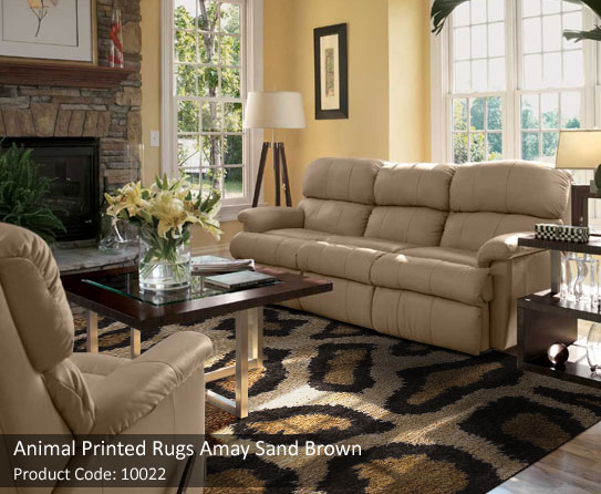 Animal Print Sand Brown Rug 3 Part 88
