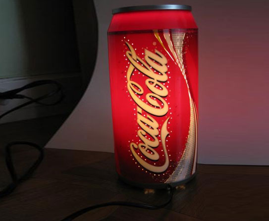Now Coke The Lights With Cola Bottles And Cans