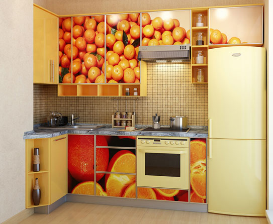 Charmant Beat The Summer Heat With Cool Colors In Kitchen. Get Blue Mosaic Patterned  Tiles That Display Different Fruit Designs. Such Artful Décor Can Make This  Area ...