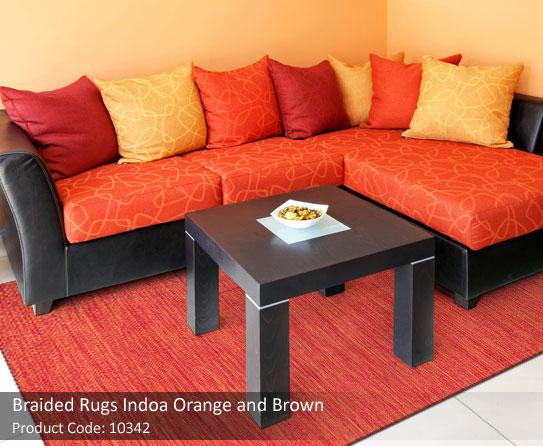 Orange Braided rug3