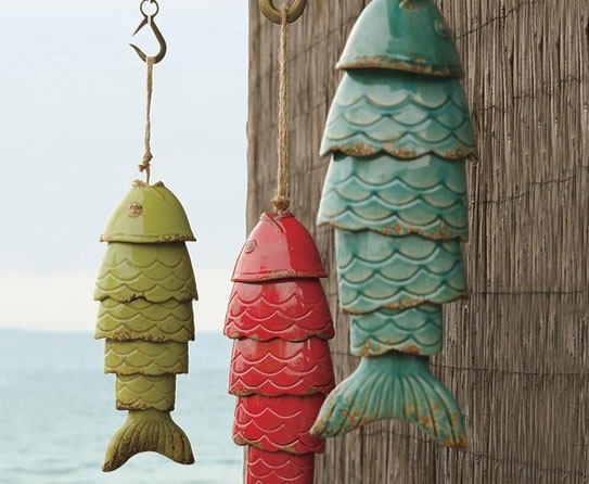 Leap of colorful fishes as home decor ideas for Outdoor decor accessories