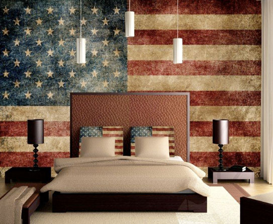 Home design that salutes patriotism this us flag day for American flag bedroom ideas