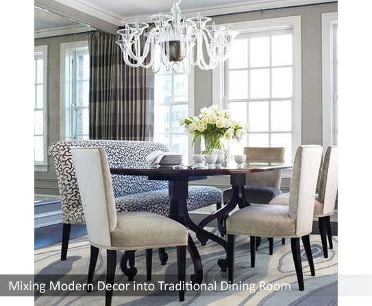 Contemporary Rug In Dinning Room1