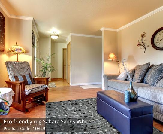 Eco friendly sand white rug 7