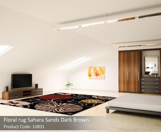 Floral Brown rug 2