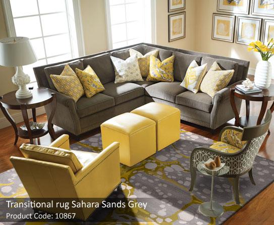 Grey Transitional rug2