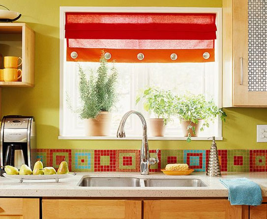 Customize Blinds With Fabric Roman Shades