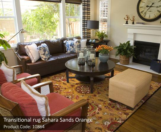 Orange Transitional rug3