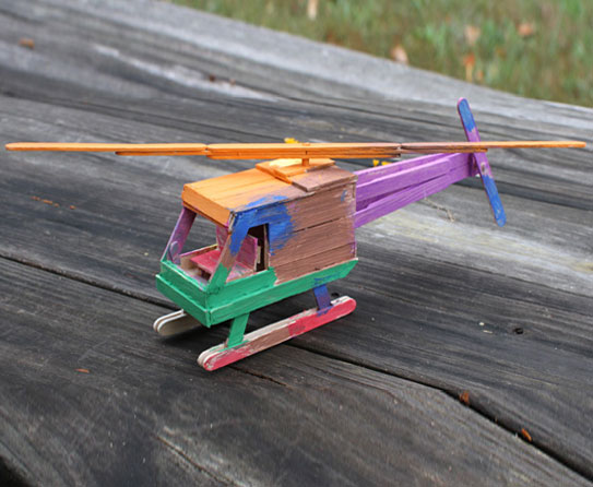 Popsicle Stick Helicopter 4