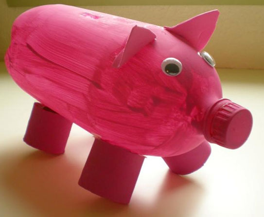 Recycled Piggy Bank 3