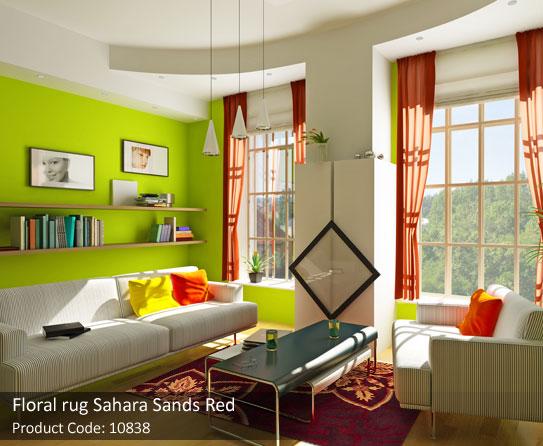 Red Floral rug6