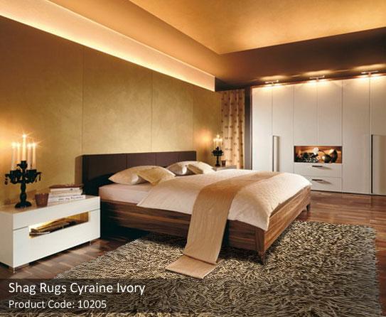 Shag rug ivory 2