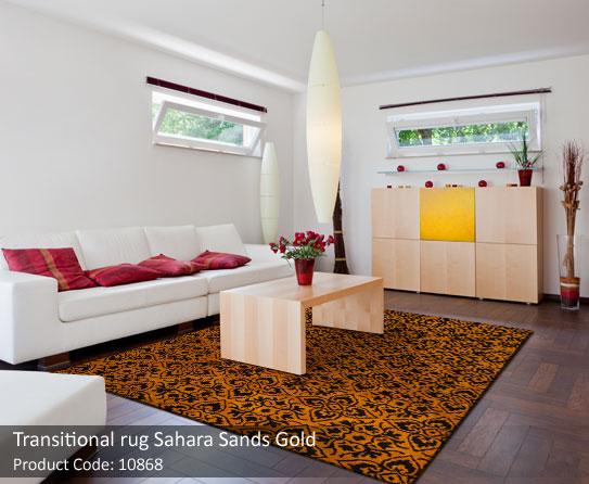 Transitional gold rug 4
