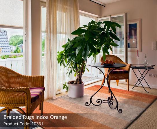 Braided rug orange 3