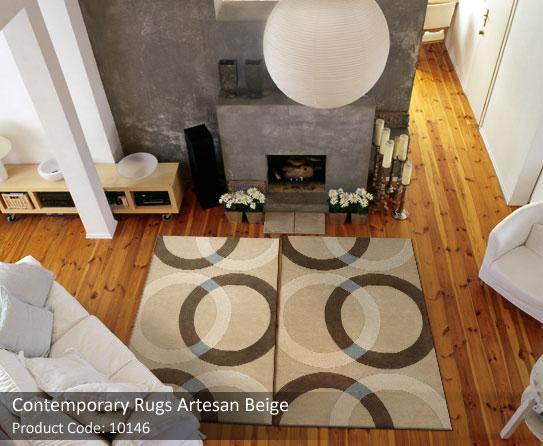 Contemporary rug beige 5