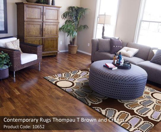 Contemporary rug brown grey 2