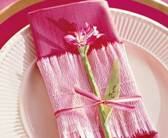 Table napkin Crepe Paper Crafts 5