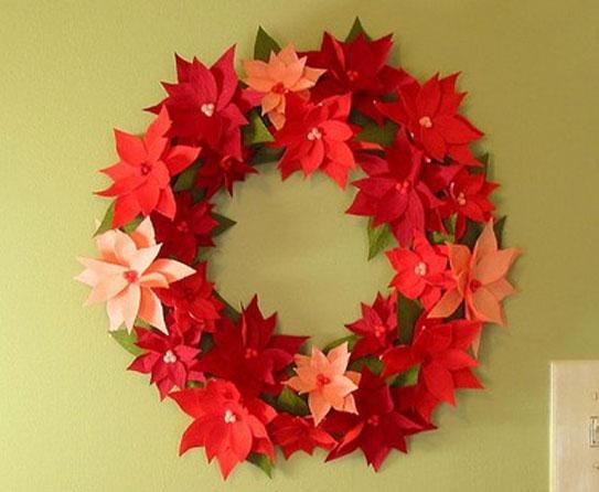 Wreath Crepe Paper Crafts 4