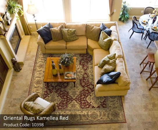 Oriental Rugs Beige Red 1