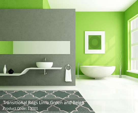 Transitionl green beige rugs 5