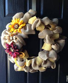 wreaths Burlap Indoors 1111