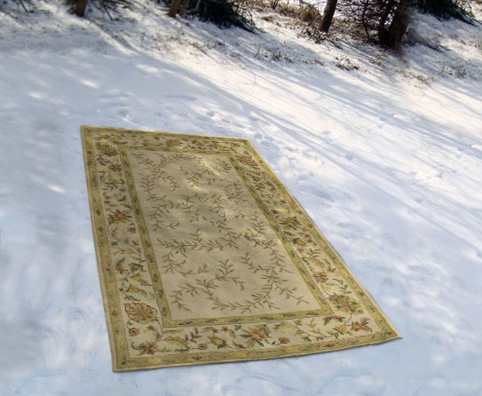 Cleaning Rugs with Snow 2