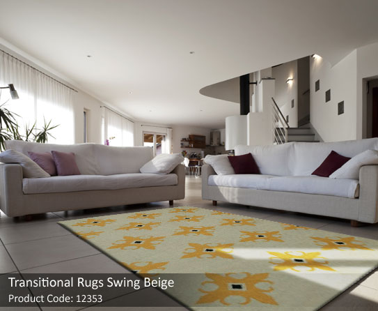Transitional beige rugs 1
