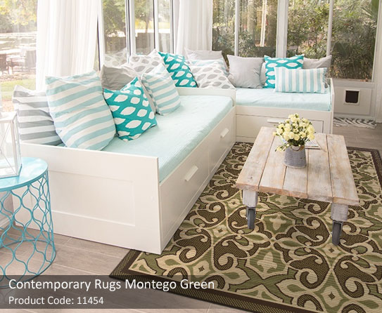 contemorary green rugs 3