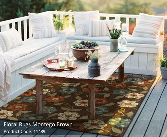 floral brown rugs 1